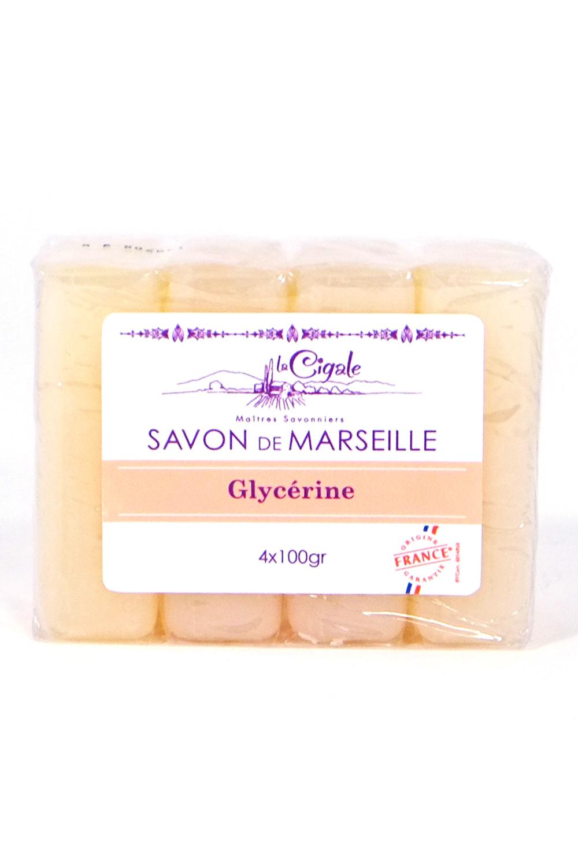 Savon de marseille glyc rine 4x100g savonnerie la cigale - Savon de marseille sans glycerine ...